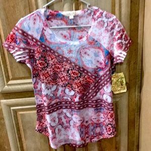 Beautiful New With Tags Blouse (One World Brand)